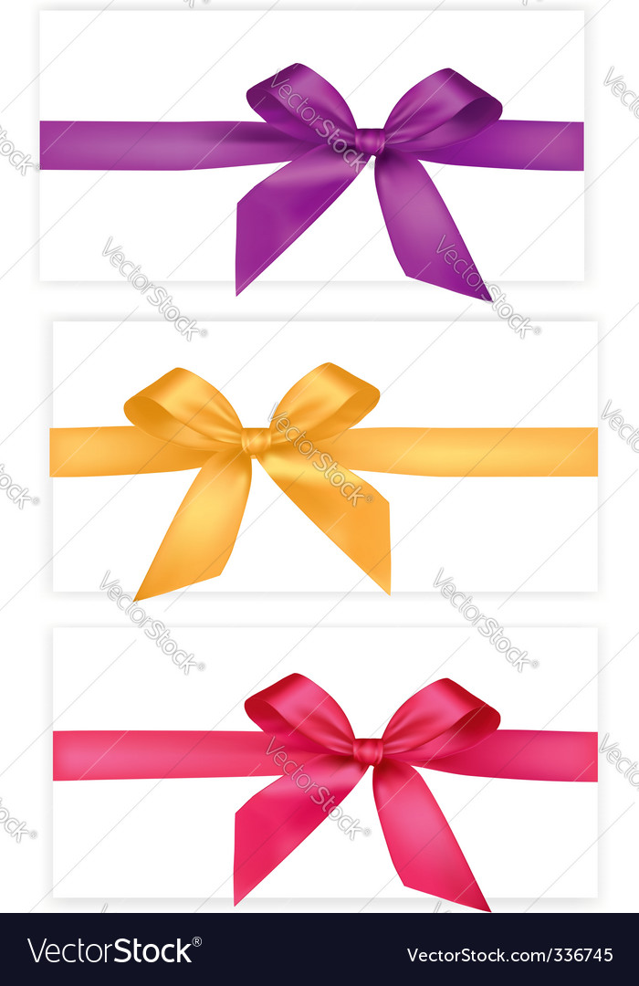 Collection of bows vector