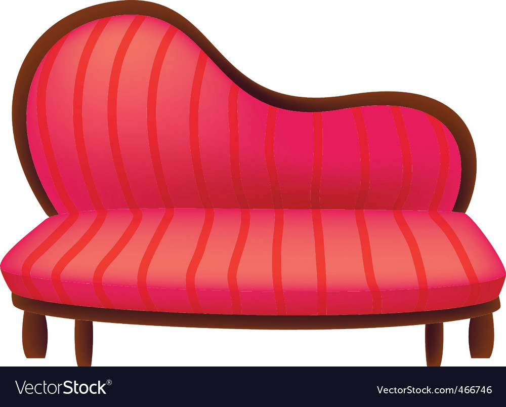 Old couch vector