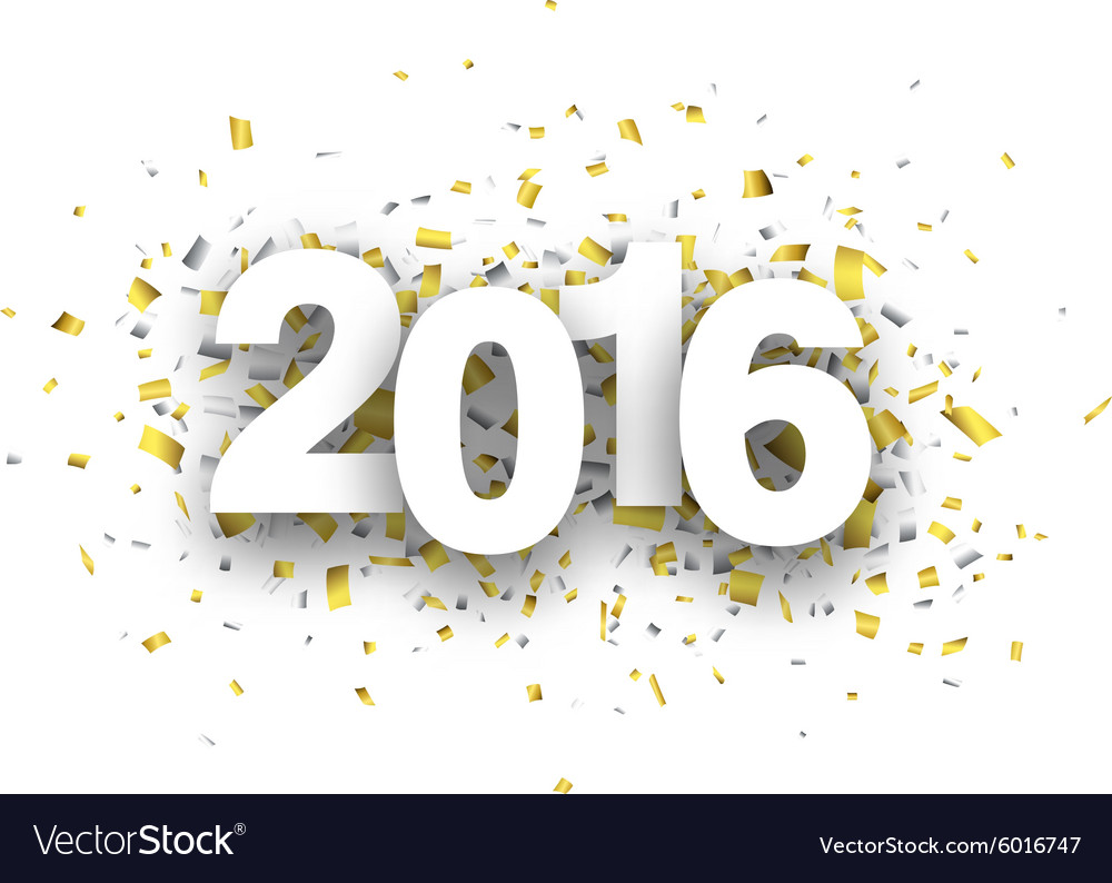 2016 paper confetti sign vector