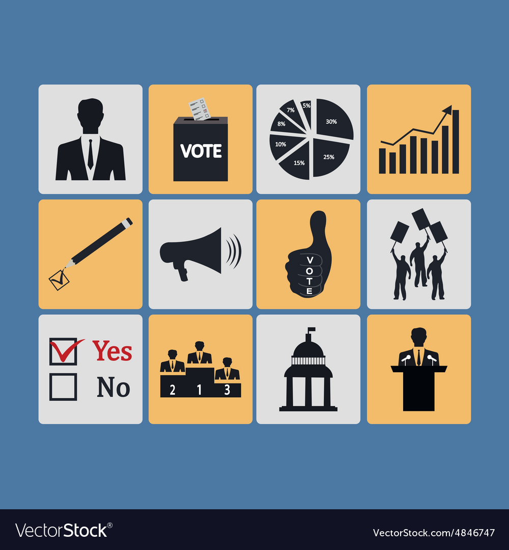 Politics voting and elections icons  icon vector