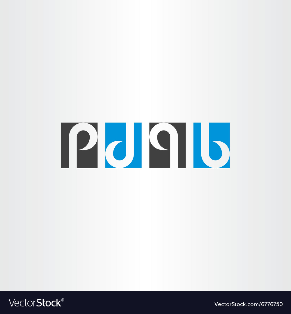 Letter p d q b same rotation combination logo icon vector