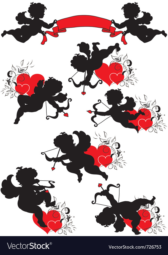 A set of cupids vector