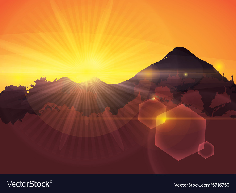 Sunset digital design vector