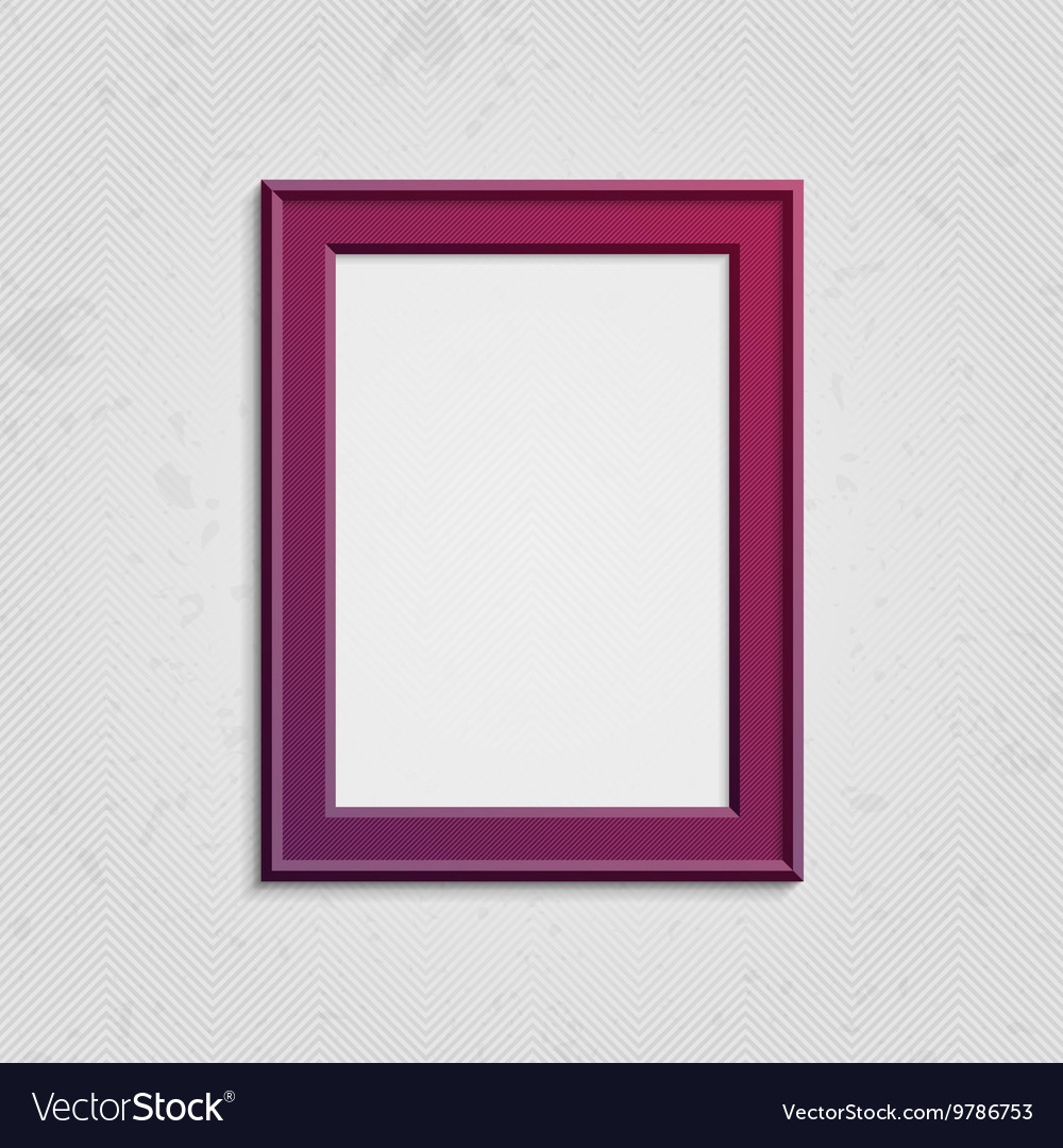 Vinous picture frame with text vector
