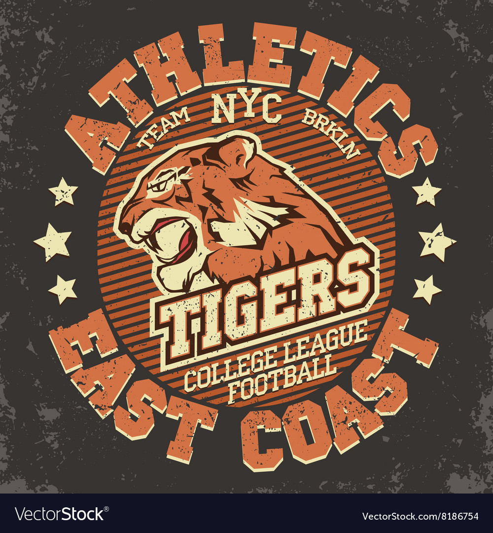 Angry tiger sport tshirt graphics vector