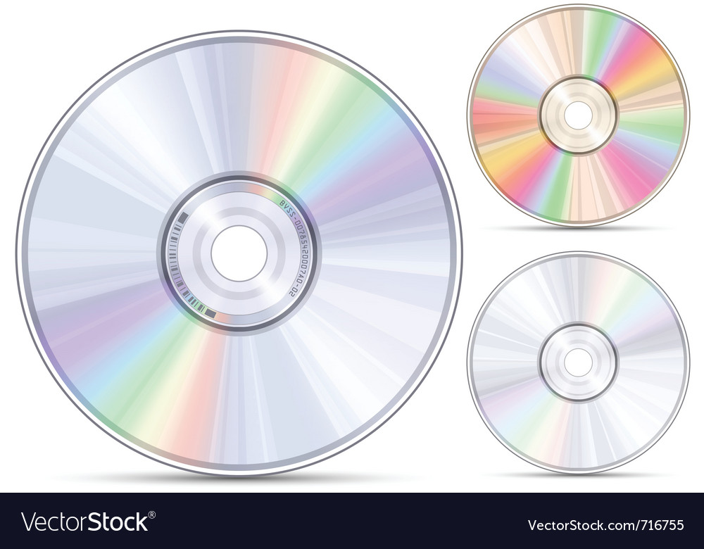 Blueray dvd or cd disc vector