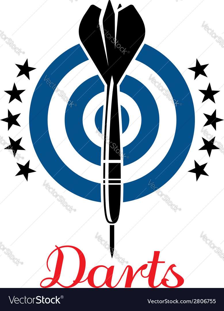 Darts emblem or logo vector
