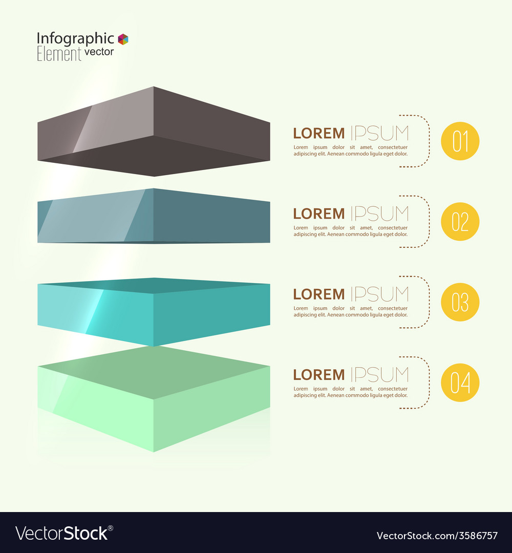 Comparative chart with templates for presentation vector