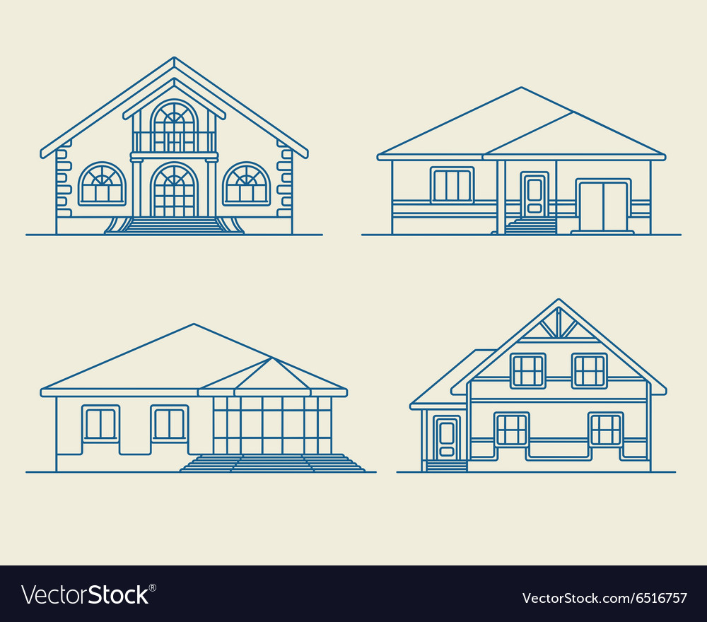 Houses linear 3 vector
