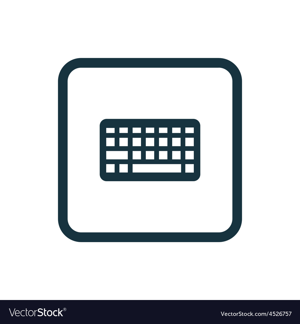 Keyboard icon rounded squares button vector