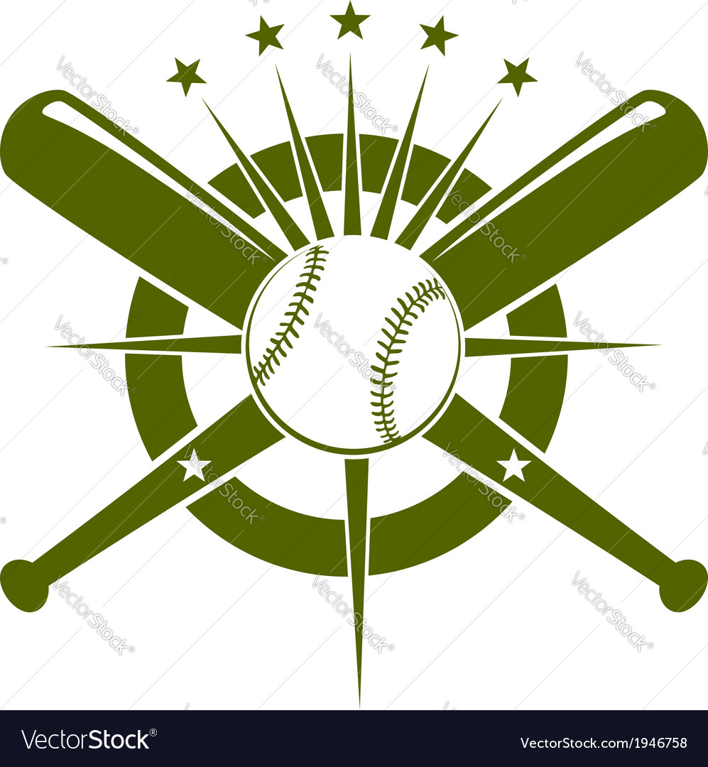Baseball championship icon or emblem vector