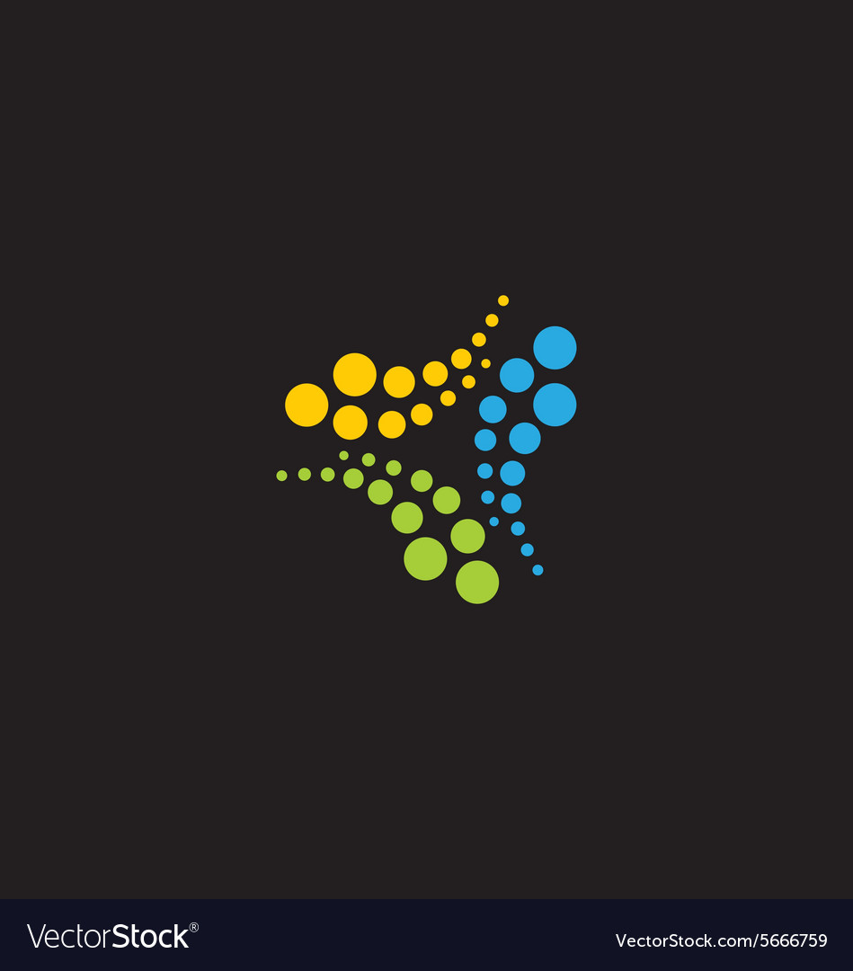 Circle dot technology abstract logo vector