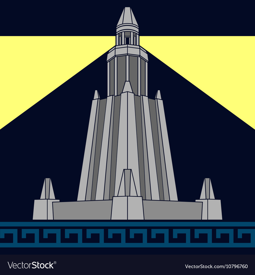 Lighthouse of alexandria third variant vector
