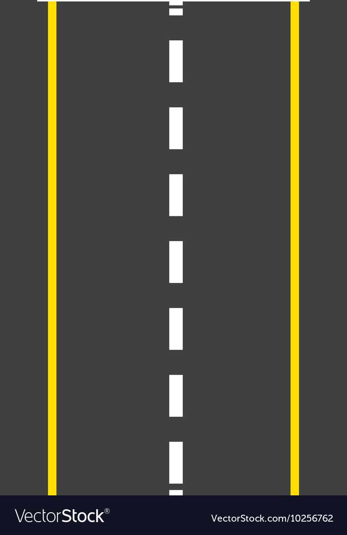 Roadway landscape isolated icon vector
