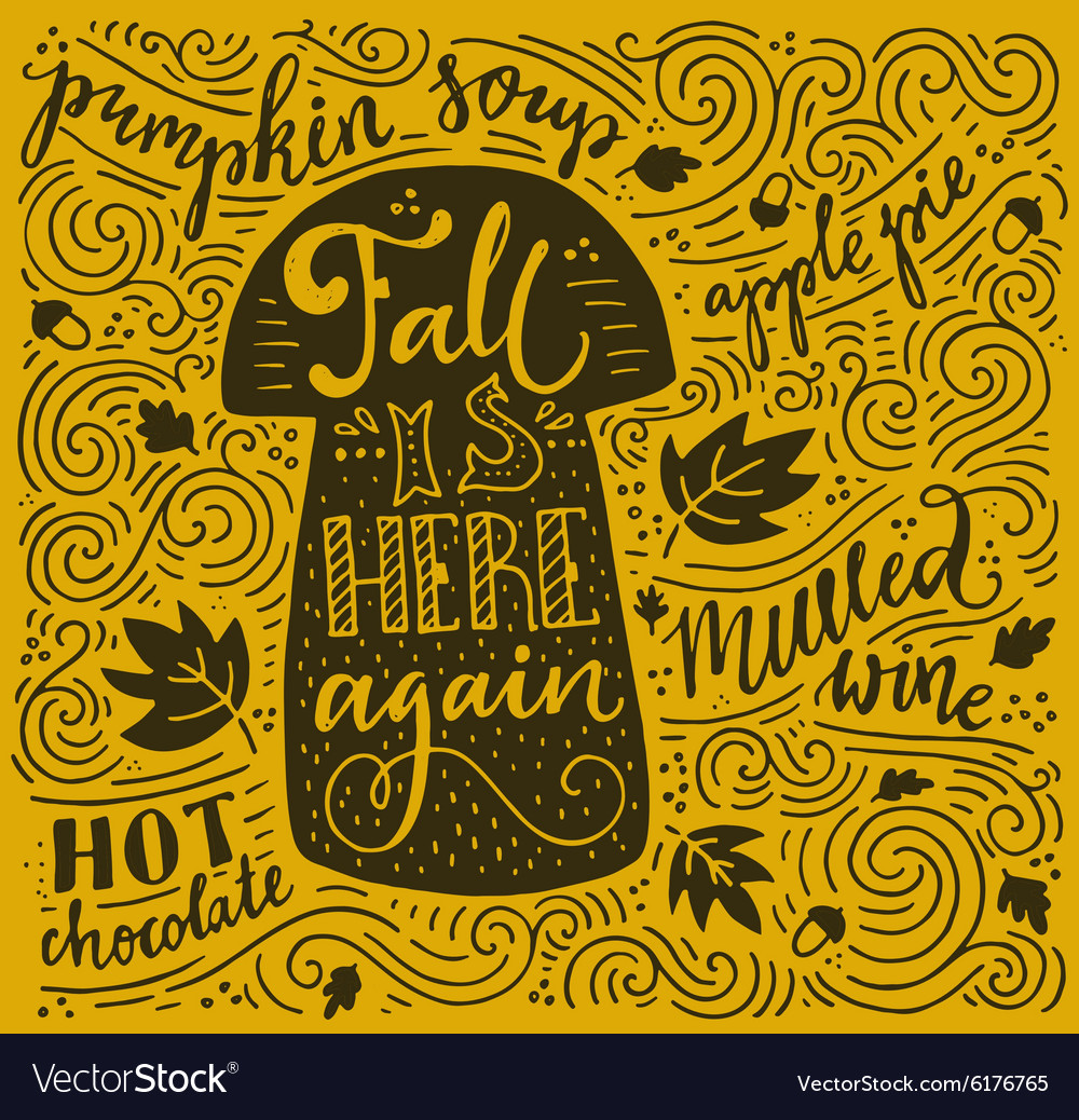 Autumn lettering vector
