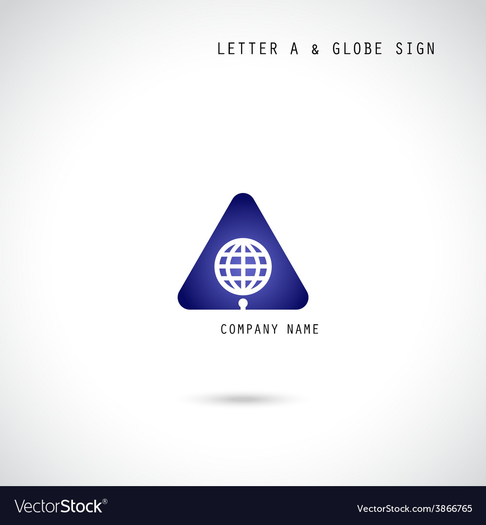 Creative letter a icon abstract logo design vector
