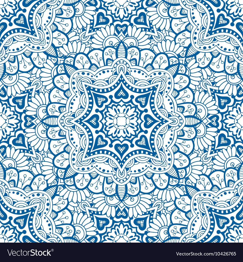 Floral kaleidoscope background vector