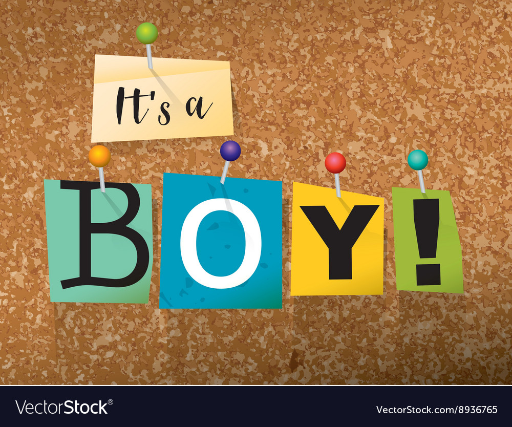 Its a boy concept vector