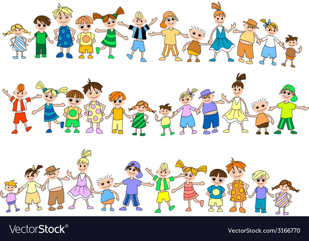 Jumping childrens vector