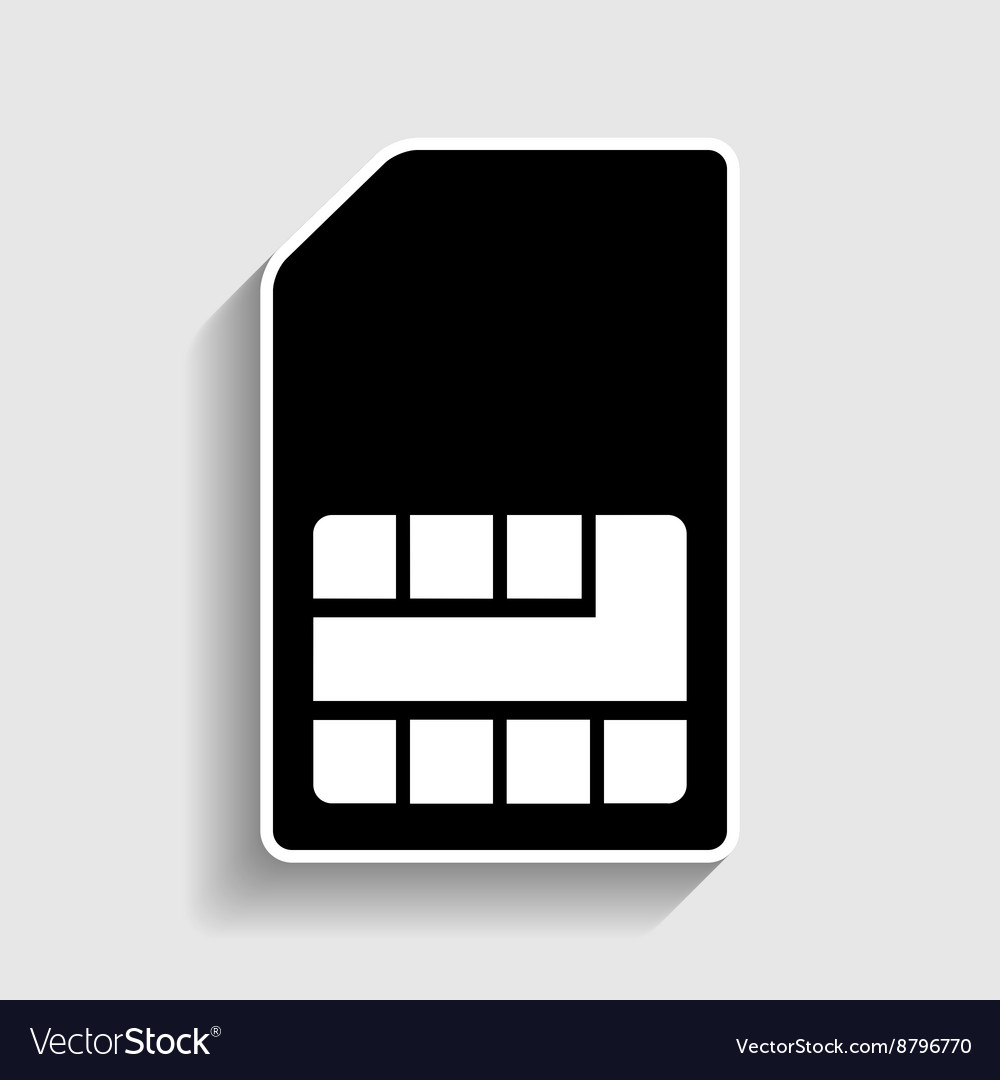 Sim card sign vector