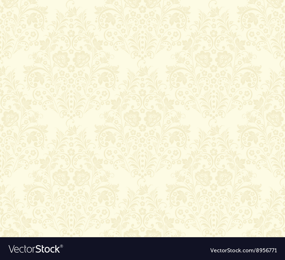 Damask seamless pattern beige vector