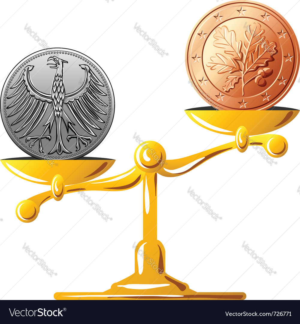 Old german coin vector