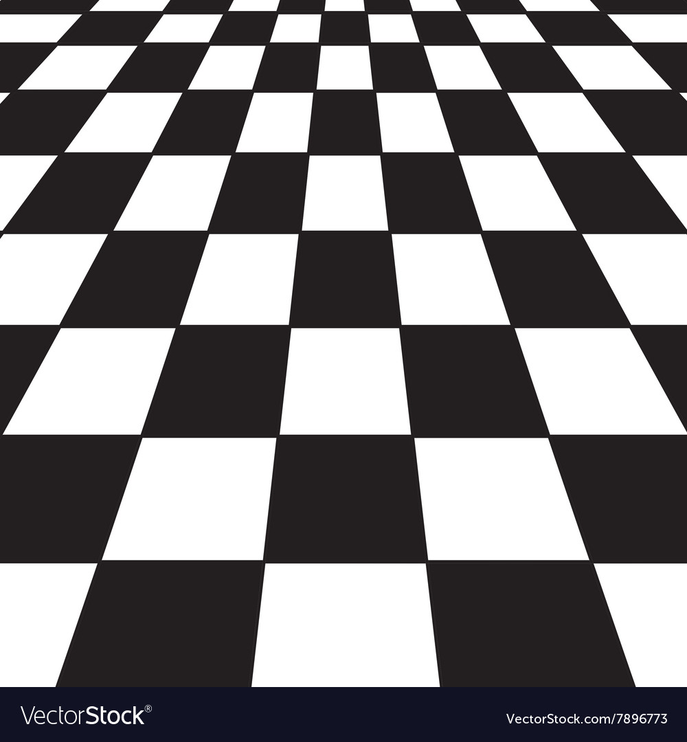 Black and white checker vector