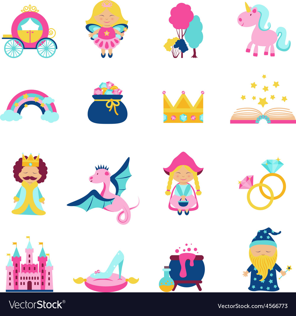 Fairy tale set vector