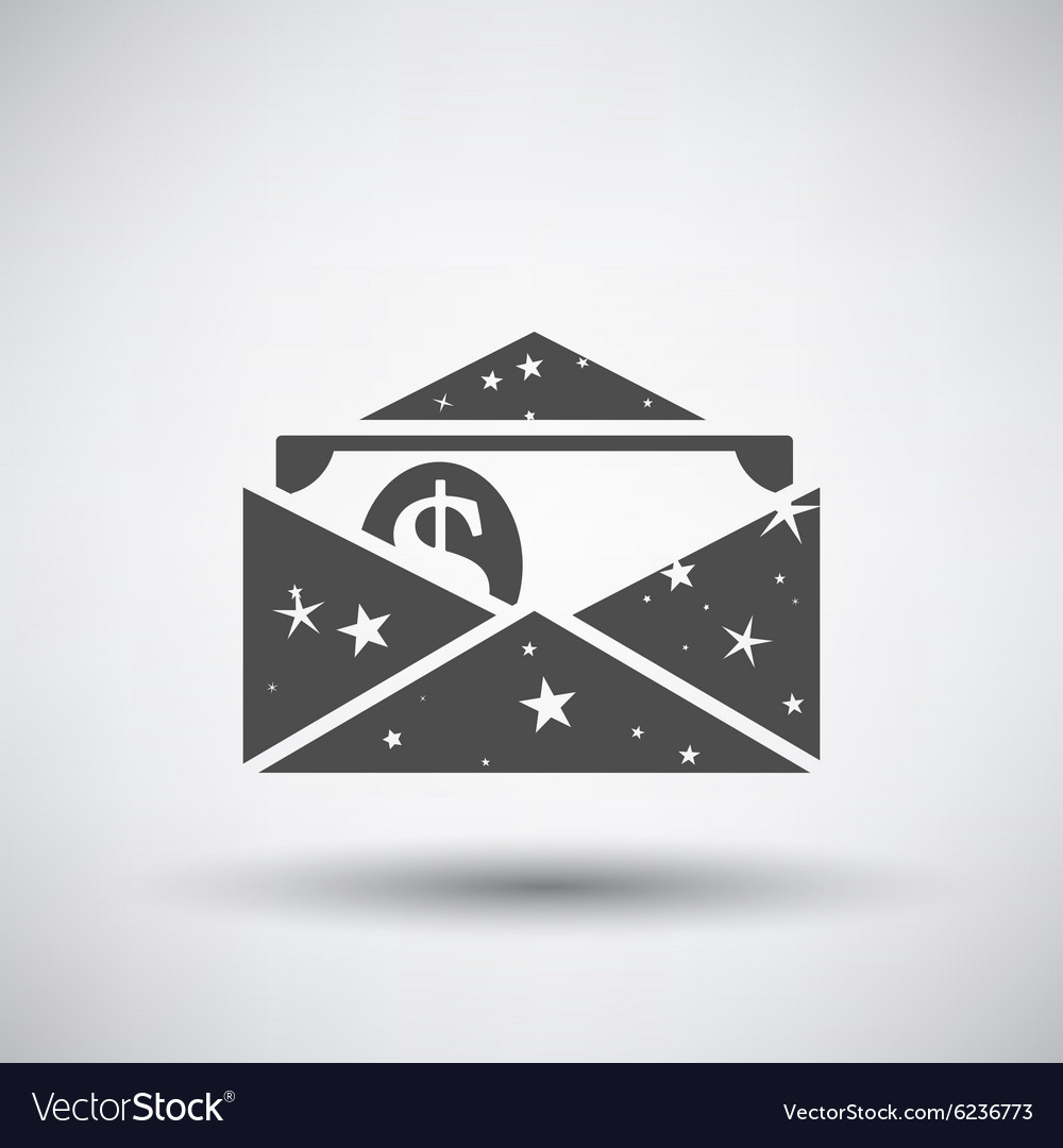 Gift envelop icon vector