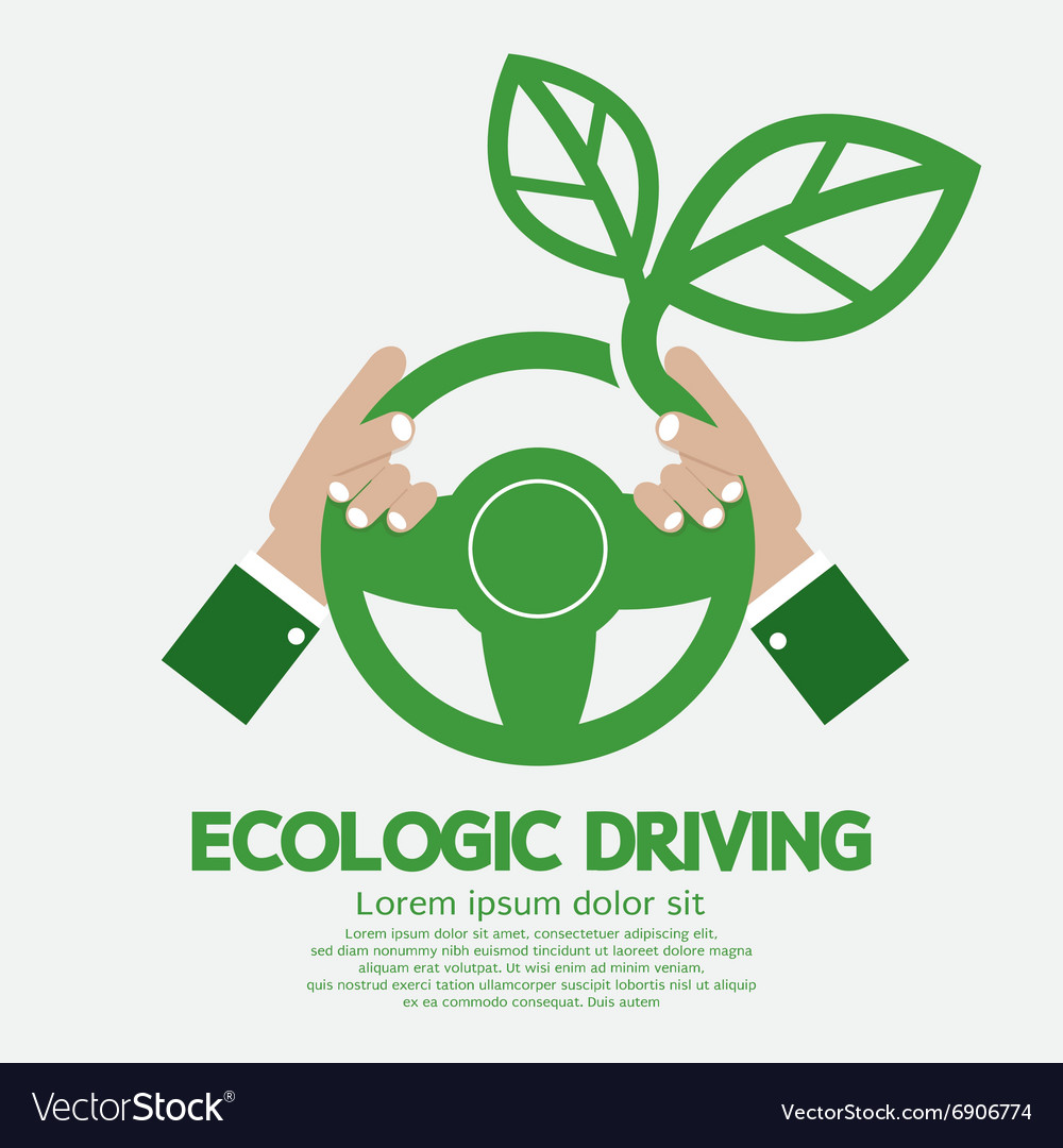 Ecologic driving concept vector