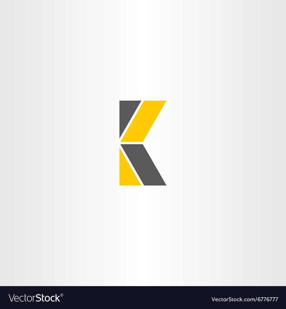Letter k yellow black logo logotype vector