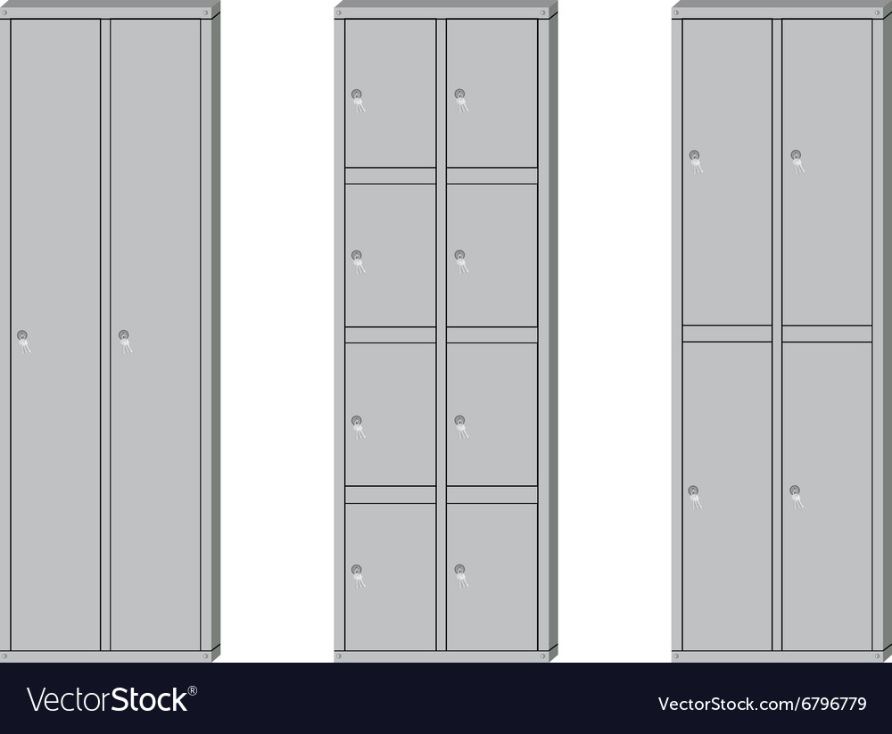 School lockers set vector