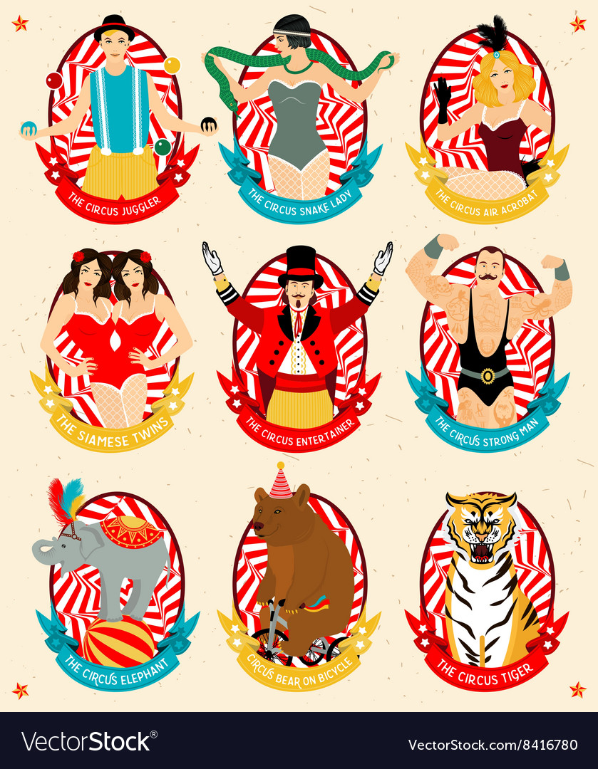 Circus collection vector