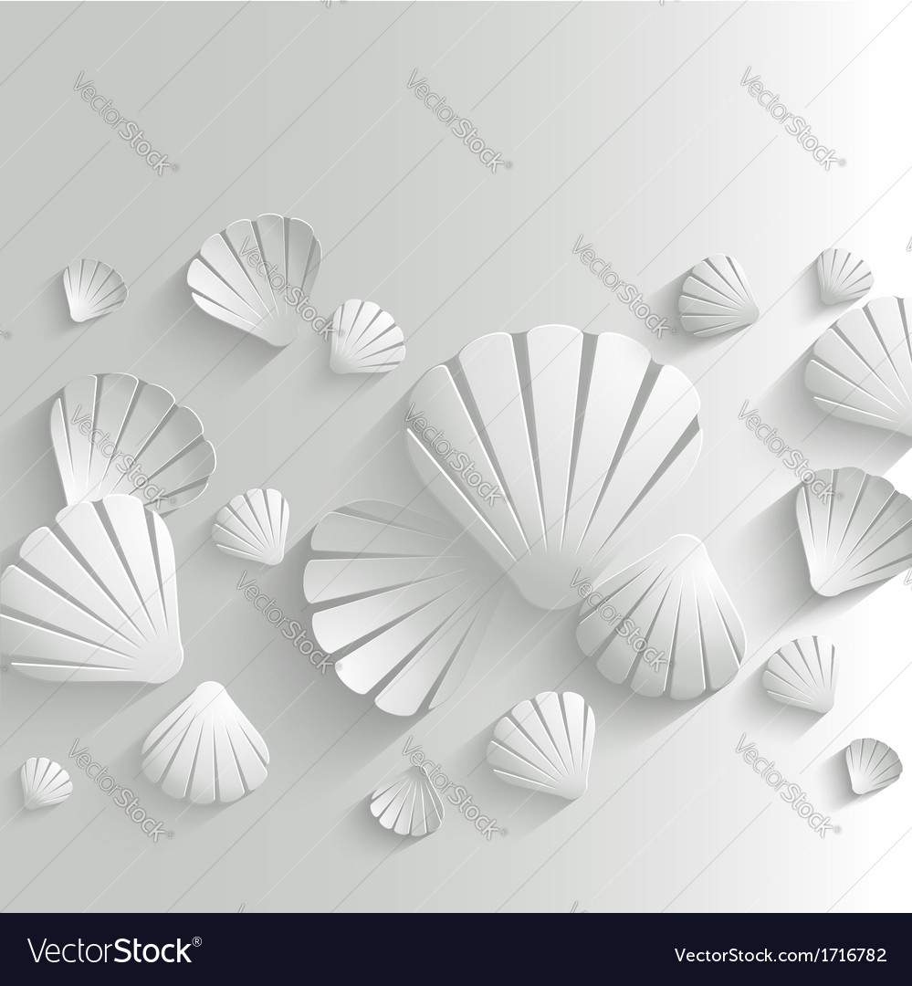 Sea shell background vector
