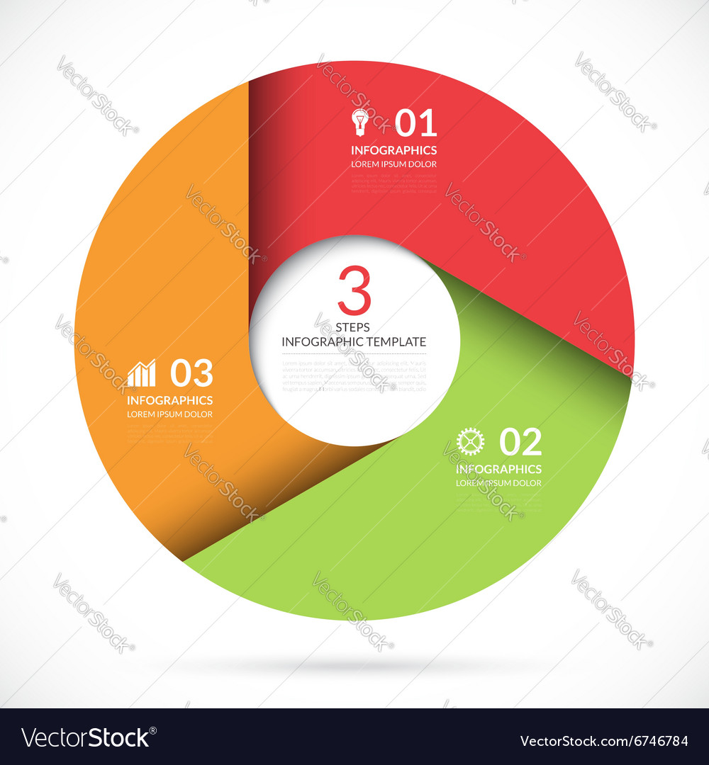 Circle template for business infographics vector