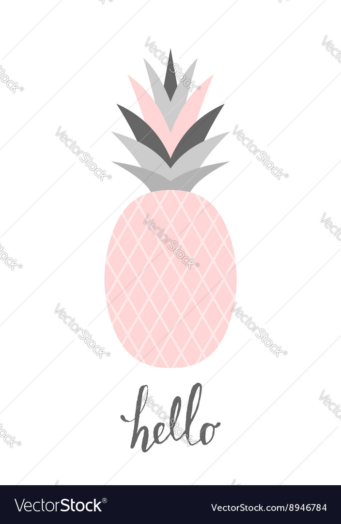 Pastel pink pineapple design vector