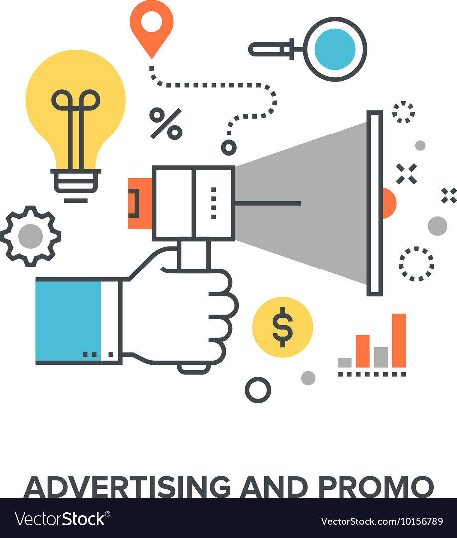 Advertising and promo vector
