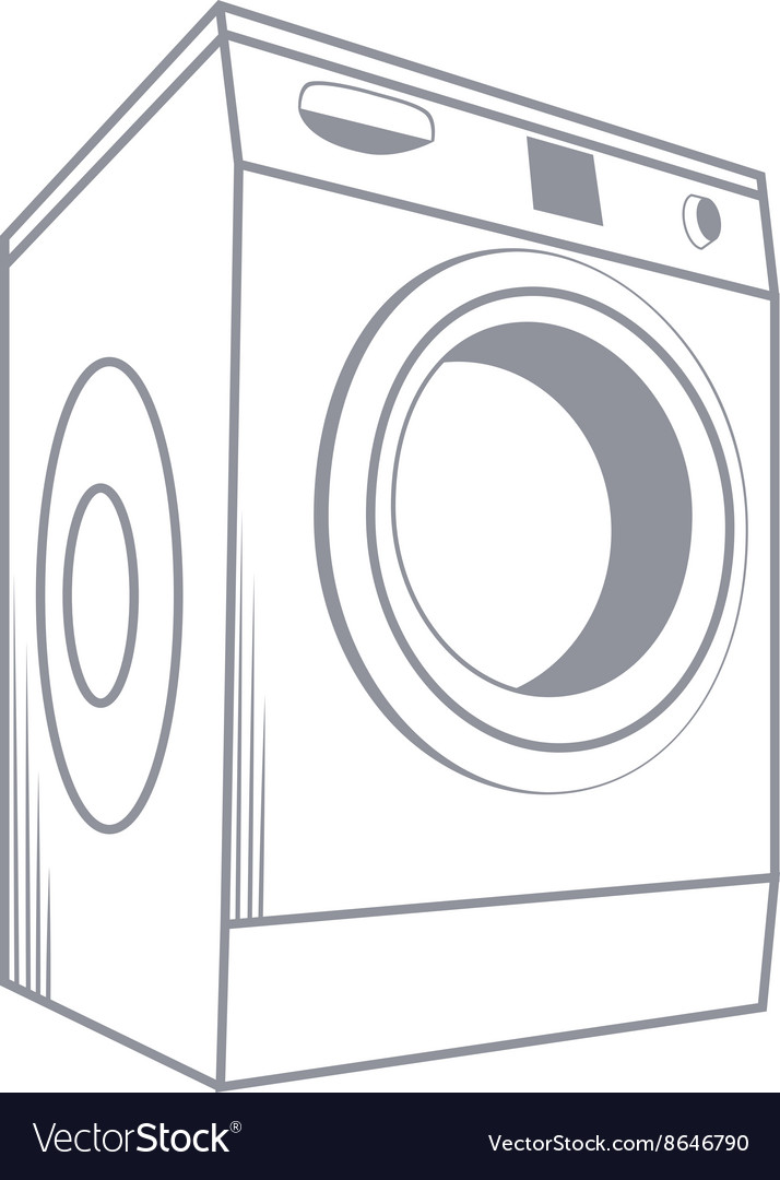 Wash machine isolated on white background vector