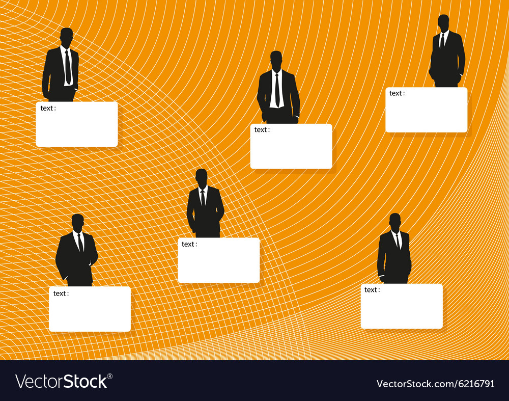 Business men and templates for the text vector