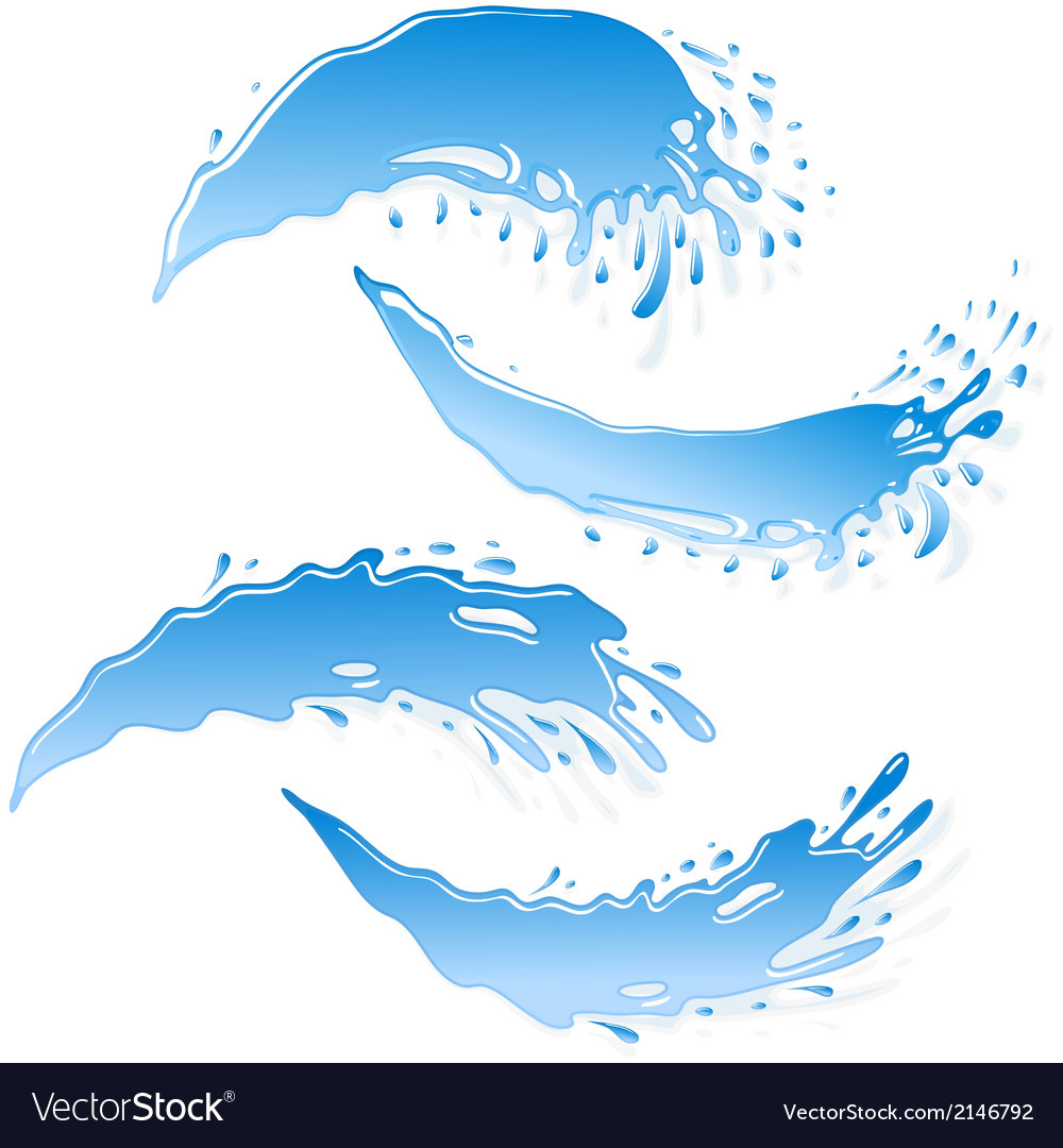 Water banner set vector