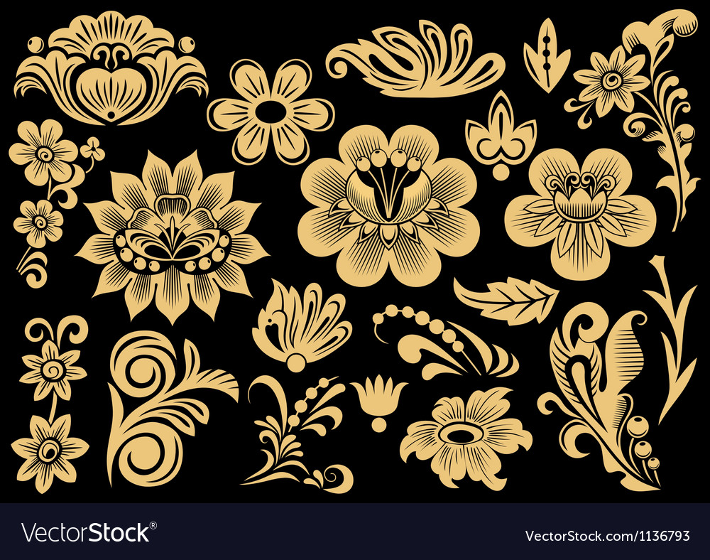 Russian patterns vector