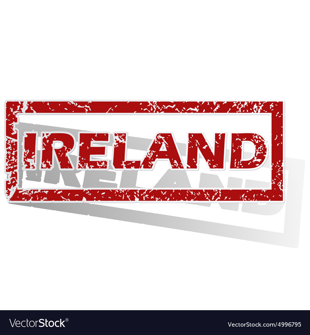 Ireland outlined stamp vector