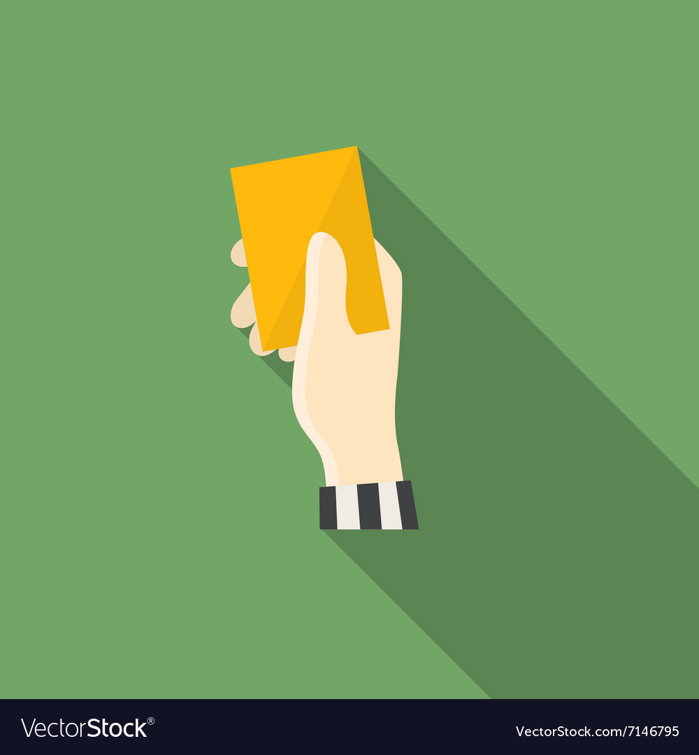 Yellow card vector