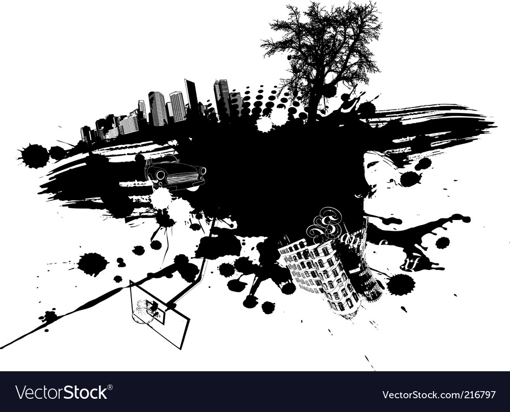 Urban splatter vector