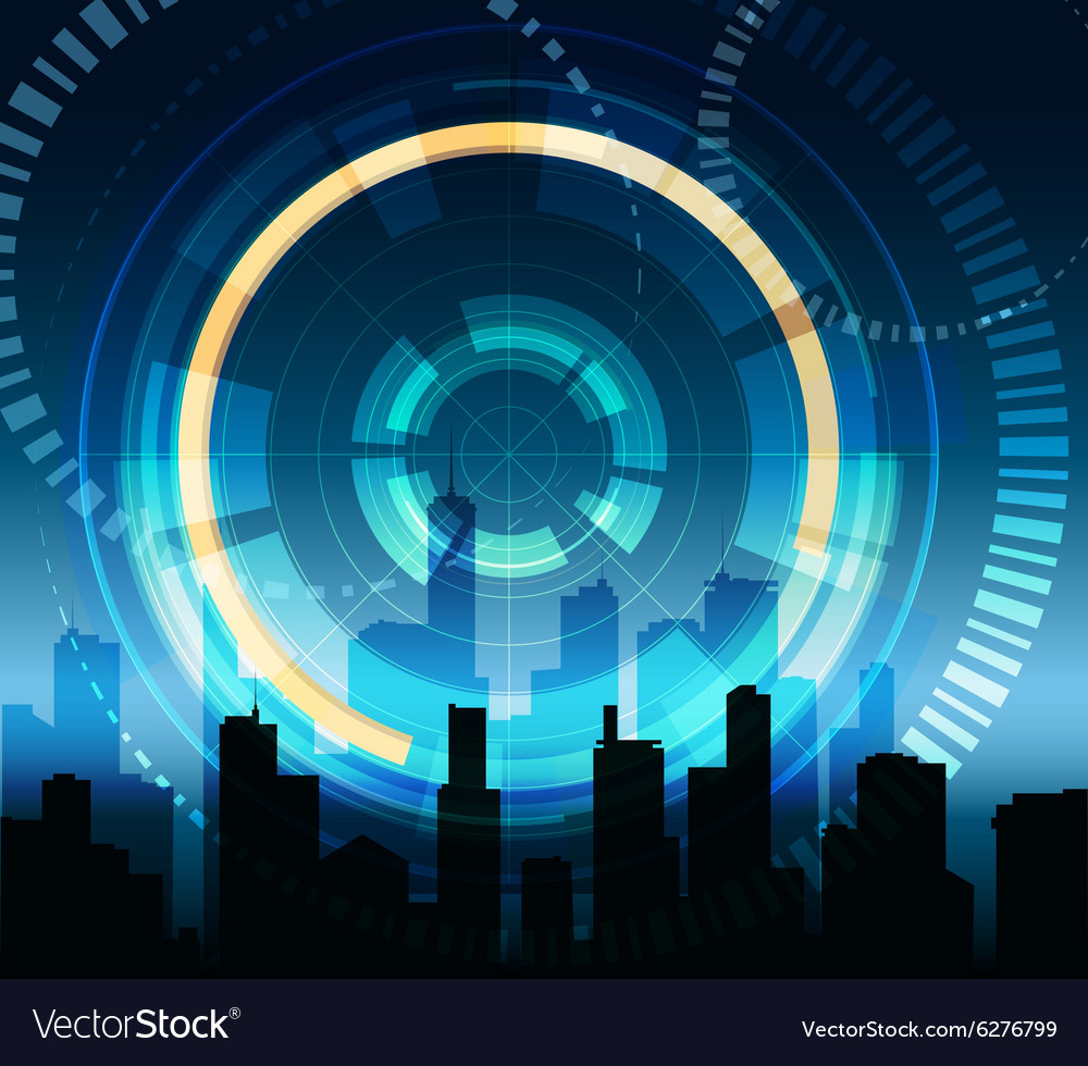 Futuristic city background vector