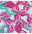 seamless pattern with decorative colored vector image vector image