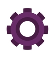purple silhouette gear wheel icon vector image