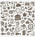 kitchen tools food - doodles set vector image vector image