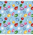 Jewelry Diamonds Rubies Emeralds Seamless Texture vector image