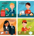 Reception Characters vector image